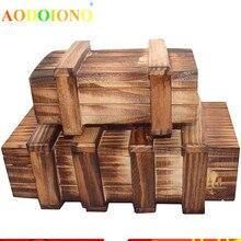 AODOIONO антистресс рельеф секретный замок коробка игрушка Китайский двойной Магия IQ деревянная Подарочная коробка-Головоломка Рождество/подарки на Рождество