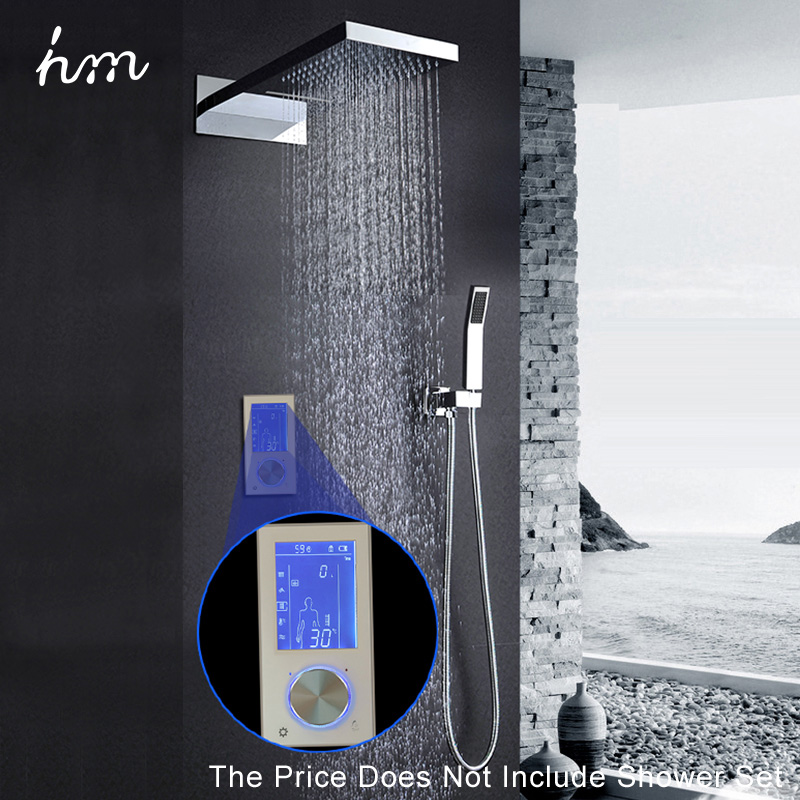 hm Digital Valve Shower Controller 3 Ways LED Touch Screen Control Thermostat Display LCD Smart Power Outlet is Compatible