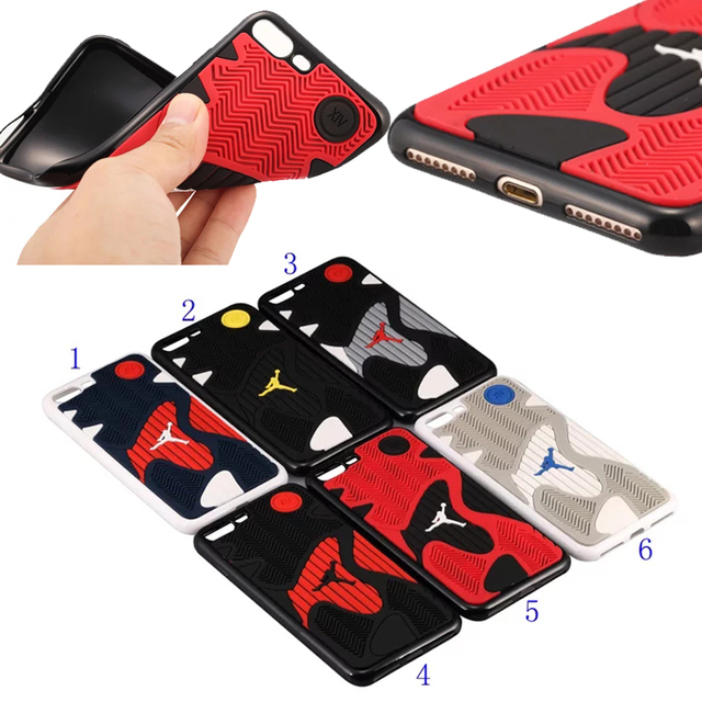 huge discount 6669a e5894 US $7.99 |NBA Basketball Michael Jordan 14 Shoe Sole Rubber Cell Phone  Cases For Apple iPhone 8 7 plus 8plus Men Sport Case Cover-in Fitted Cases  from ...