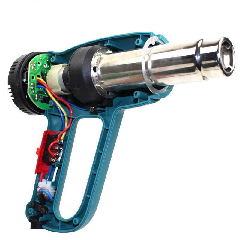 LAOA 1800W Industrial Heat Gun Two Grade Adjustable Hot Air Electric Gun With two Nozzles For Auto Film 1000kgs 3 3m cheap semi electric wide leg stacker with adjustable feet for standard two face pallete