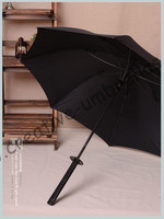 Samurai Sword Handle Katana Mini Golf Umbrella Wolverine Auto Open Mantis Feet Windproof Anti Thunder Fiberglass