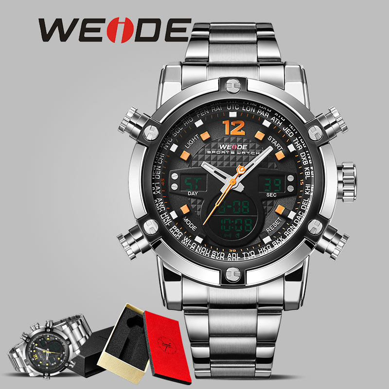 WEIDE luxury business Sport clock men automatic LED digital electronic wrist watches  quartz wristwatch  watch fashion  casual sport student children watch kids watches boys girls clock child led digital wristwatch electronic wrist watch for boy girl gift