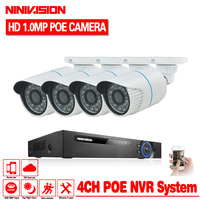 NINIVISION HD 48V 1080P HDMI P2P 4CH 2 0MP POE NVR Surveillance System Video Output 1