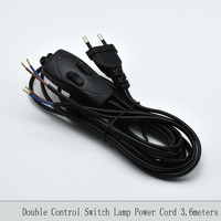 2 0 75mm2 3 6M Europe Plug Lamp Power Cord With Double Control Switch VDE Certified