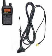 Ultrakorte Interphone Antenne op Voertuig UV Dual Sectie SMA M Tie Rod Antenne voor Yaesu CB Radio VX 3R VX 5R VX 6R VX 7R