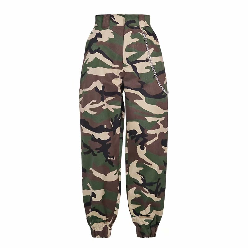 High Waist   Pants   Loose Joggers Women Harm Camo   Pants   Streetwear Cargo   Pants     Capris   Trousers