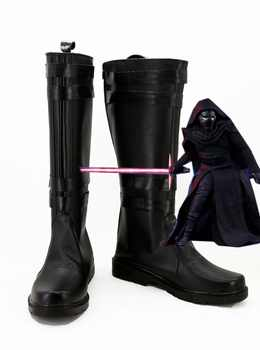 Star Wars 7:The Force Awakens Kylo Ren Boots Moive Jedi Halloween Cosplay Shoes For Adult Men Euro Size