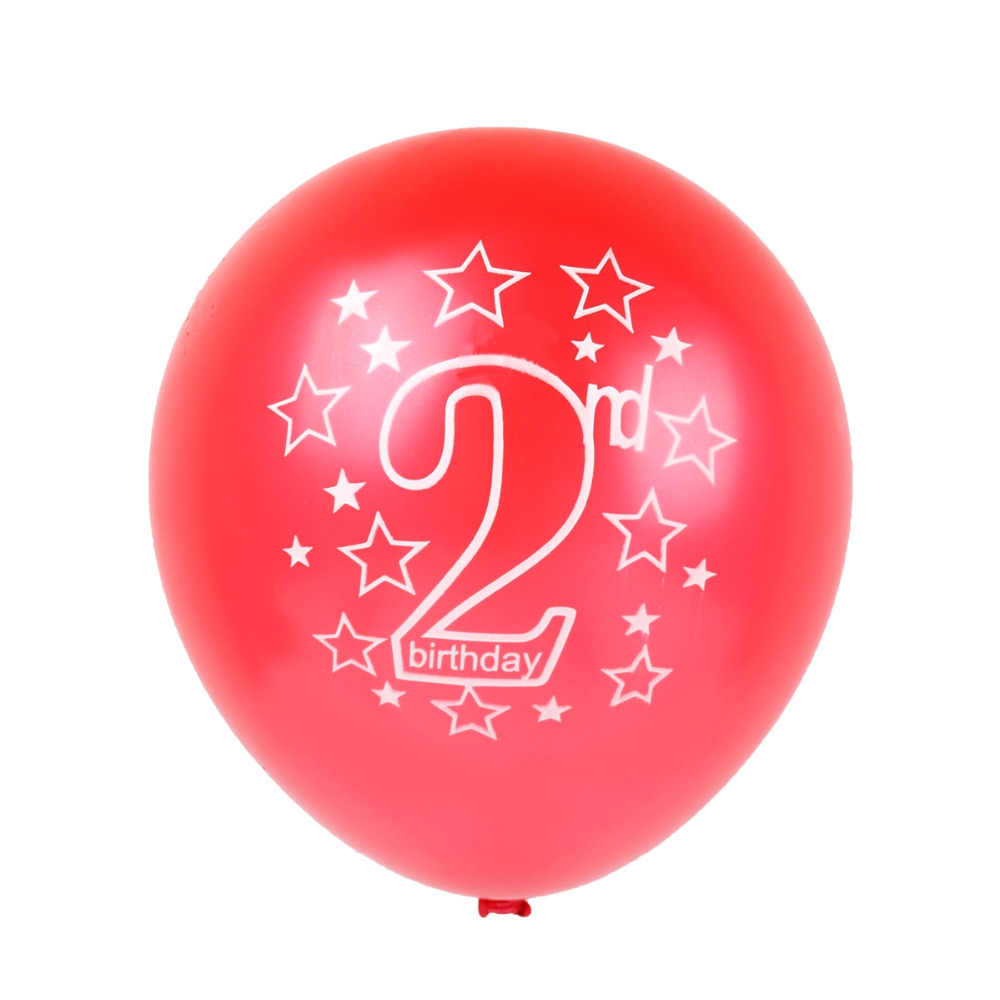 QIFU 15pcs 1st 2nd Birthday Balloon One 1 2 Year Old Happy Party Decor Inflatable
