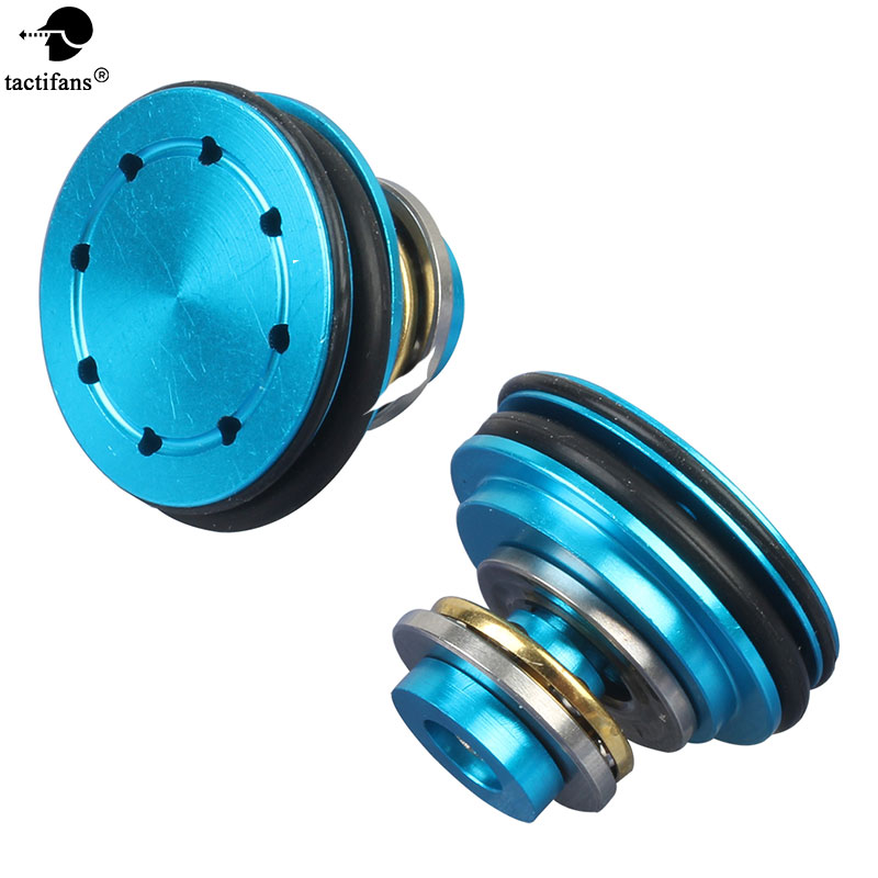 Tactifans Metal Vented Double O-ring Ball Bearing Piston Head 8 Holes For Ver.2/3 Airsoft AEG Gearbox Any Inner Barrels
