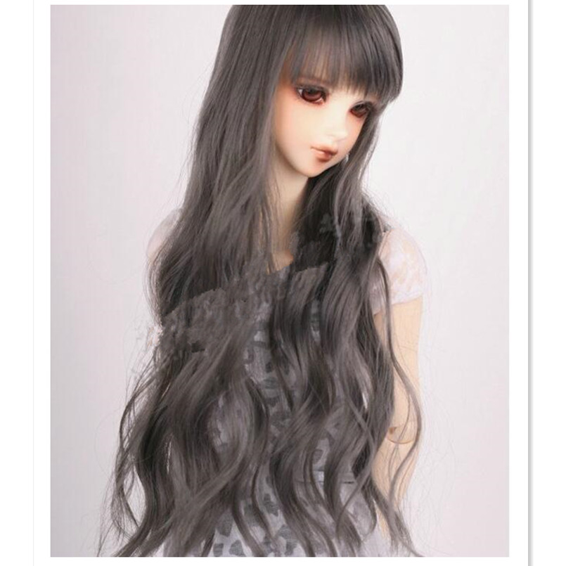 1 3 Sd Bjd Doll Wigs Long Curly Hair Fashion Synthetic Doll Hair Wavy Wig Dolls Accessories For