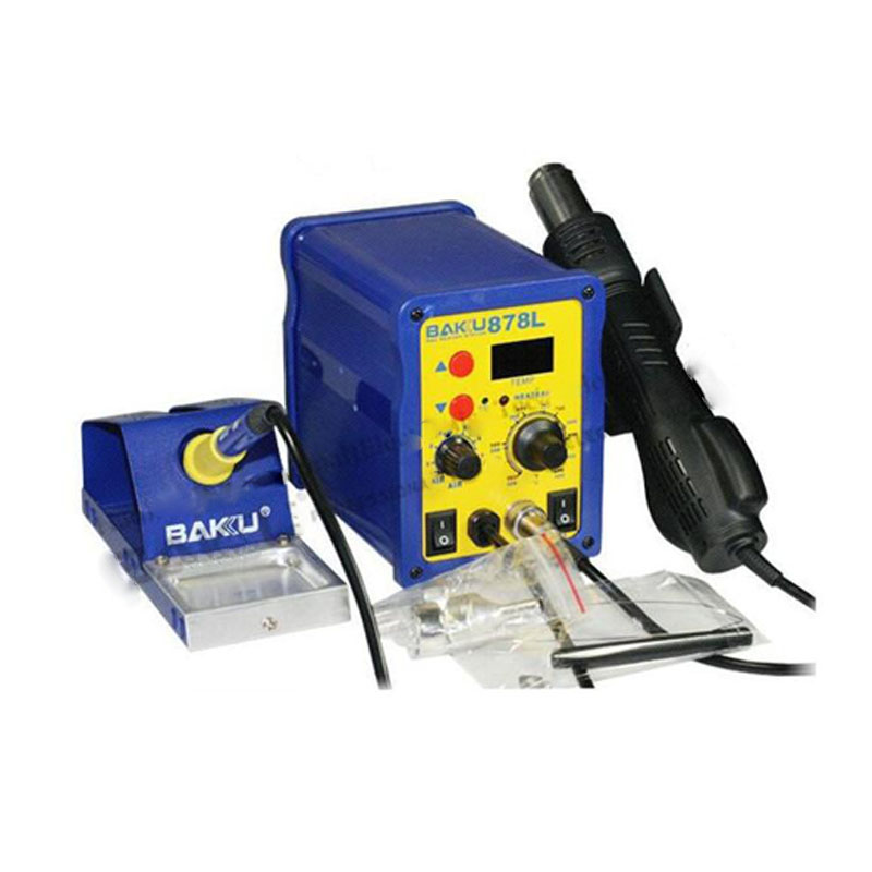 BAKU BK-878L2 led digital Display SMD Brushless Hot Air Rework Station + Soldering Iron and Heat Gun for Cell Phone Repair