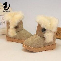 1-8 ans hiver solide bébé chaussures 2017 mocassins bébé garçon Fille bottes Botte D'hiver Pour bottes Bebe Fille infantile tenues chaussons