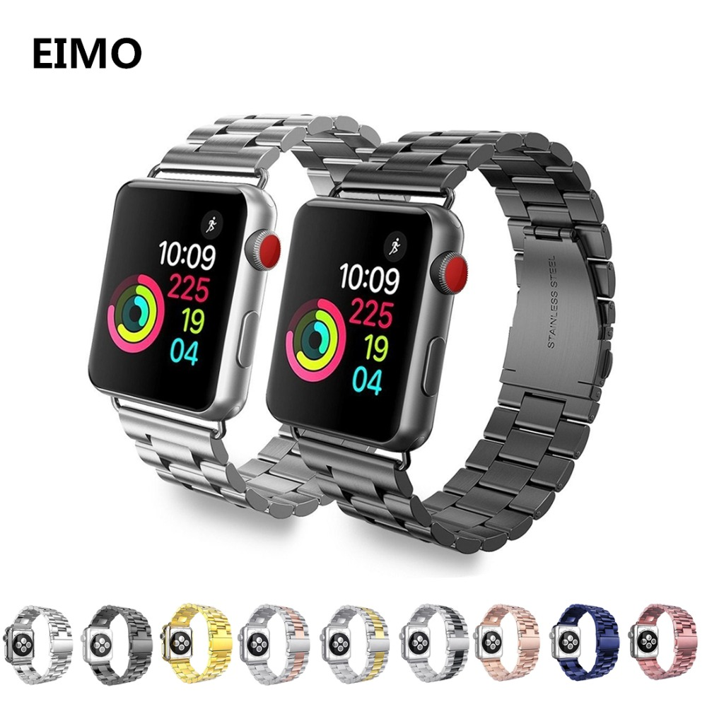 Stainless steel strap For Apple watch band 42mm 38mm iwatch bands series 3 2 1 Link bracelet luxury metal wrist belt Watchband luxury ladies watch strap for apple watch series 1 2 3 wrist band hand made by crystal bracelet for apple watch series iwatch