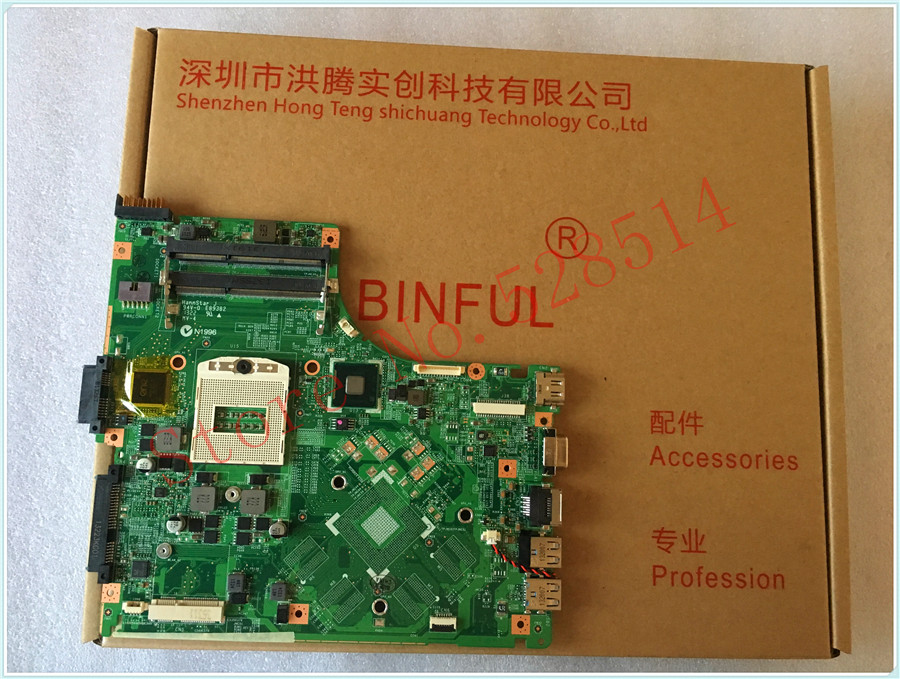 Original FOR MSI FOR CR40 GE40 Laptop Motherboard PGA947 DDR3 MS-14921 100% work perfectly msi original zh77a g43 motherboard ddr3 lga 1155 for i3 i5 i7 cpu 32gb usb3 0 sata3 h77 motherboard