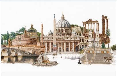 Gold Collection Counted Cross Stitch Kit Rome Italy Famous City Series tg 499