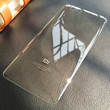 New Rear Housing For XIAOMI Mi6 Back Cover Mi 6 Battery Door Case Full Transparent Glass Case With Adhesive