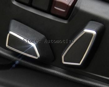 Car Styling Seat Adjustment Button Cover Trim For BMW 1 Series 3 Series f30 4 Series 5 Series X3 f25 X5 f15 X6 f16 Accessories image