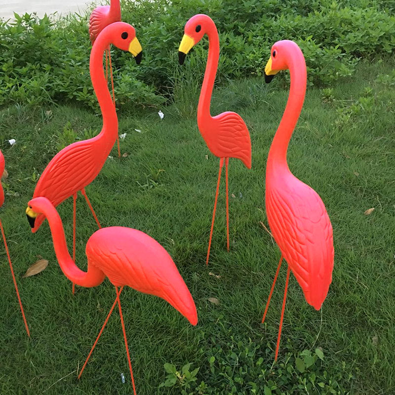1Pcs PE Lifelike Artificial Flamingo Ornament For Home Garden Yard Lawn Art Christmas Wedding Ceremony Decoration
