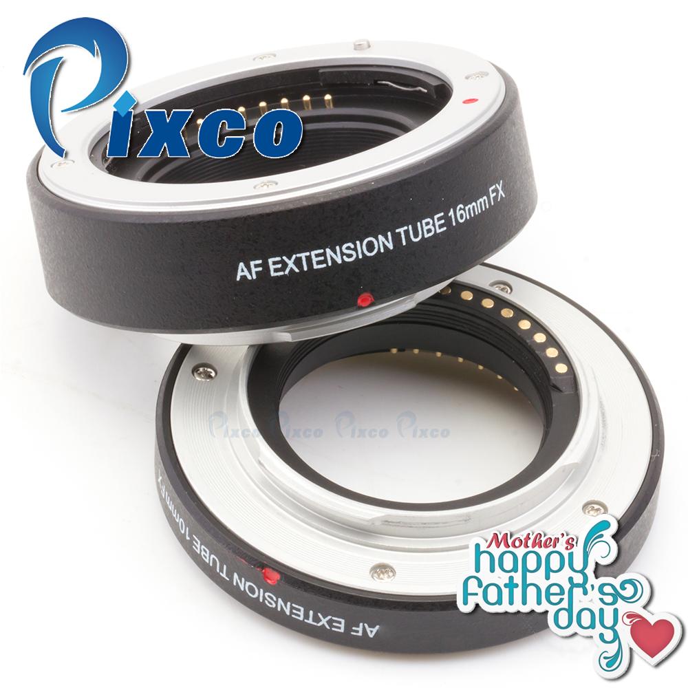 Prix pour Mère père cadeau programme pixco autofocus macro extension tube set costume pour/fujifilm x-a2 x-t1 x-a1 x-e2 x-m1 x-e1 x-pro1