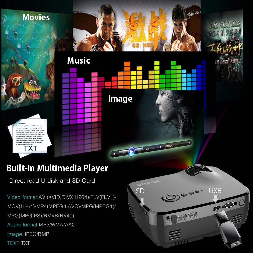 BYINTEK markası SKY GP70 Portativ Mini LED Kino Video Rəqəmsal HD - Evdə audio və video - Fotoqrafiya 4