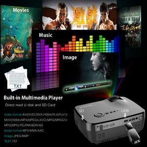 Image 4 - BYINTEK GP70 נייד מיני LED מקרן, קולנוע וידאו דיגיטלי HD קולנוע ביתי מקרן Proyector