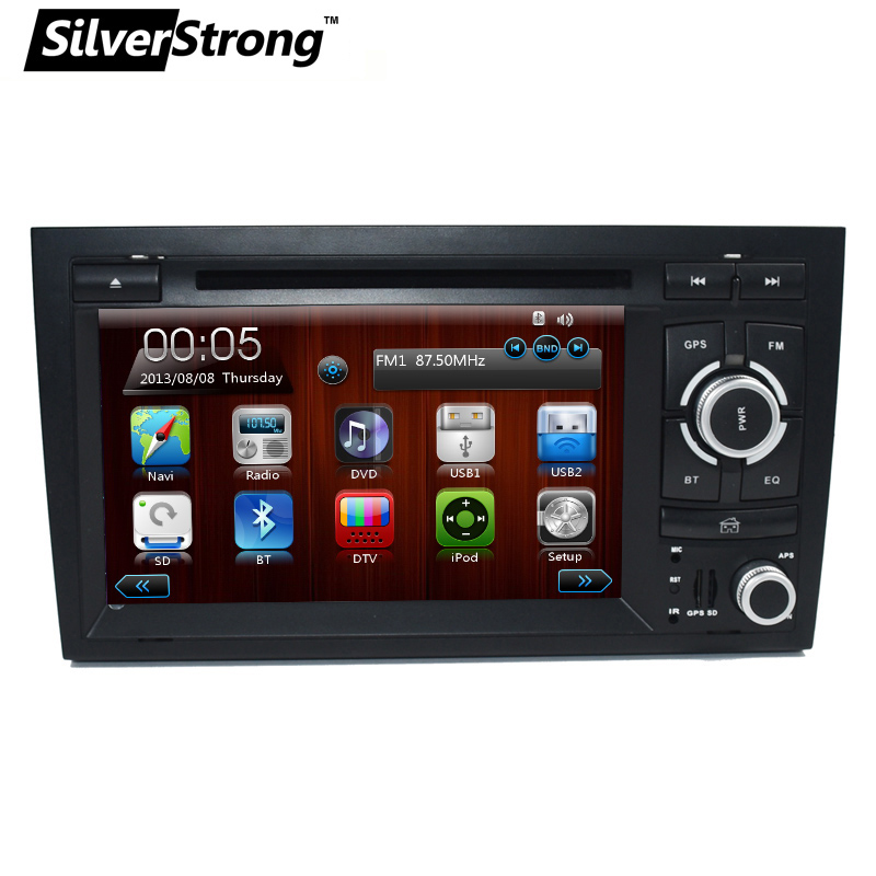 SilverStrong 2 Din Car DVD for Audi A4 B6 2002 2003 2004 2005 2006 2007 for S4 RS4 8E 8F B9 B7 RNS-E 2DIN Radio A4 fit for audi a4 b6 b7 armrest arm rest center console storage box lid cover car interior styling 2002 2003 2004 2005 2006 2007