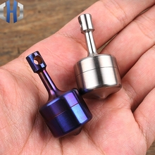 Top Seal bottle Titanium Alloy Waterproof Canister Pills Can Gyro Capsule Bottles EDC Outdoor Tool