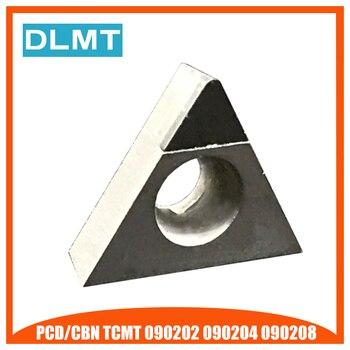 PCD/CBN TCMT090202 TCMT090204 TCMT090208 1 sztuk Diamant Couteau Lame CNC Haute Durete de Tournage Tour Diamant Cutter Outils