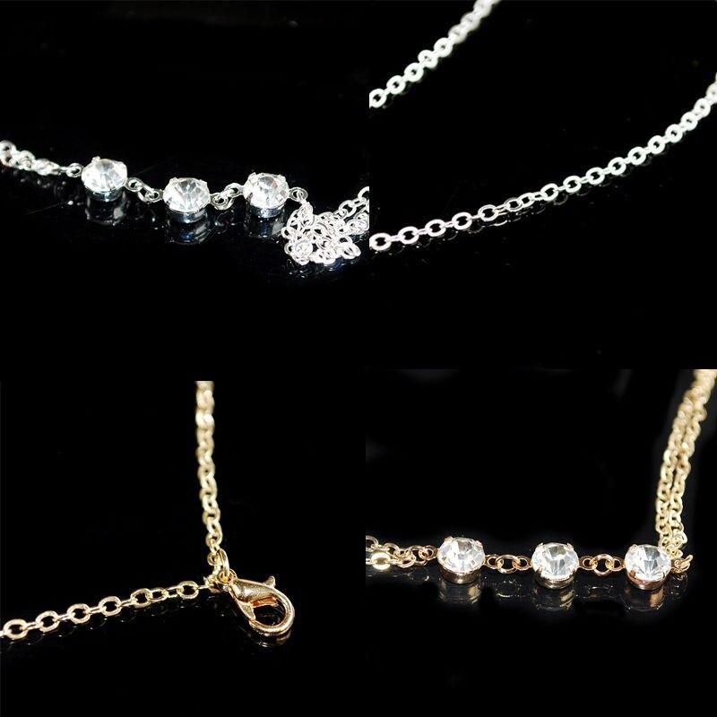 1 pc Fashion Gold//Silver Bikini Crossover Waist Belly Harness Body Chain Necklac