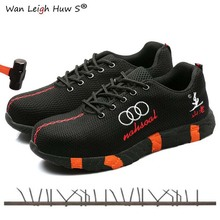 Steel Toe Safety Shoes Men Women Breathable Mesh Industrial & Construction Puncture Proof Work Boots Shoes Protective Footwear safety shoes men work steel toe breathable boots men s fashion casual safety shoe boots puncture proof protective footwear