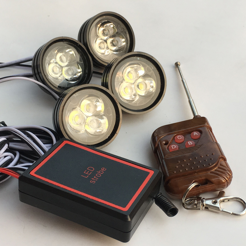 Wireless RF Remote 36W Led strobe car fog light Moto Emergency flash DRL flasher Daytime eagle