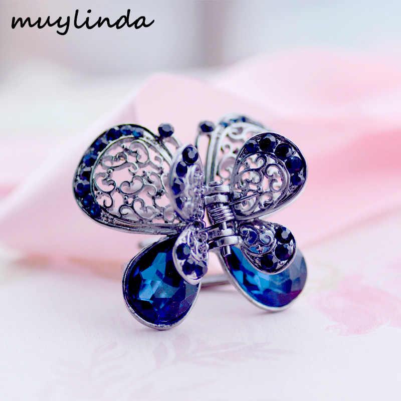 ... Crystal Flower Hair Jewelry Black Hair Claw Crab Vintage Rhinestone  Hair Clip Pins Hair Accessories For ... 4ef2ba4a0a20