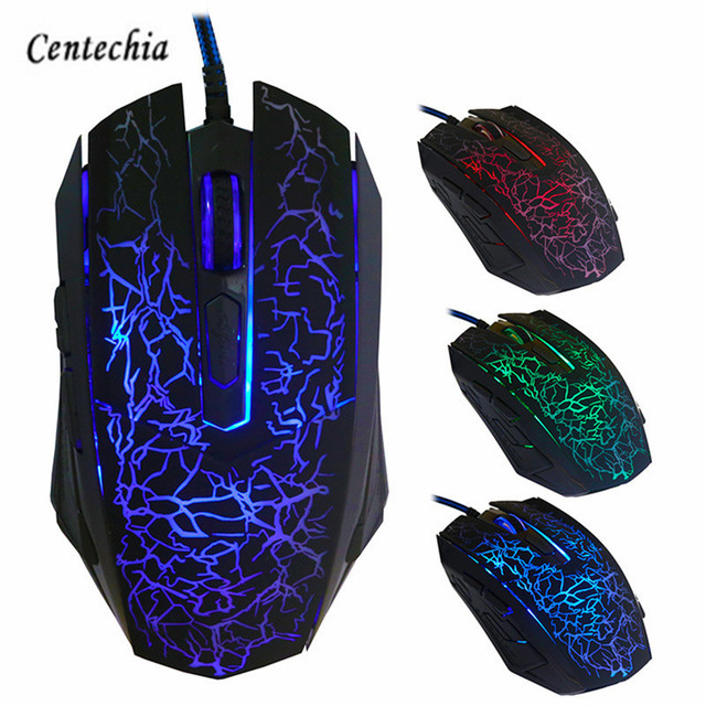 2018 New Gaming Mouse 4000DPI 6 Buttons Colorful LED Optical USB Wired  Mouse Gamer Mice computer mause mouse For Pro Gamer-in Mice from Computer &