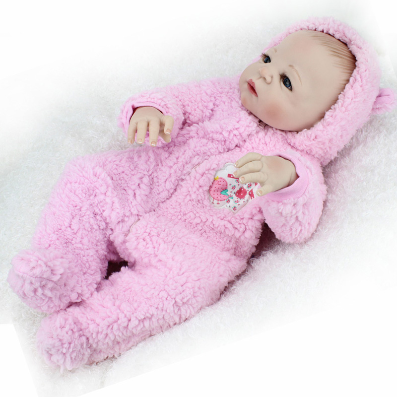 55cm Full Body Silicone Reborn Doll Girls Toys Lifelike Newborn Baby Fashion Dolls Children Birthday Christmas New Year Gift silicone reborn baby doll toy lifelike reborn baby dolls children birthday christmas gift toys for girls brinquedos with swaddle