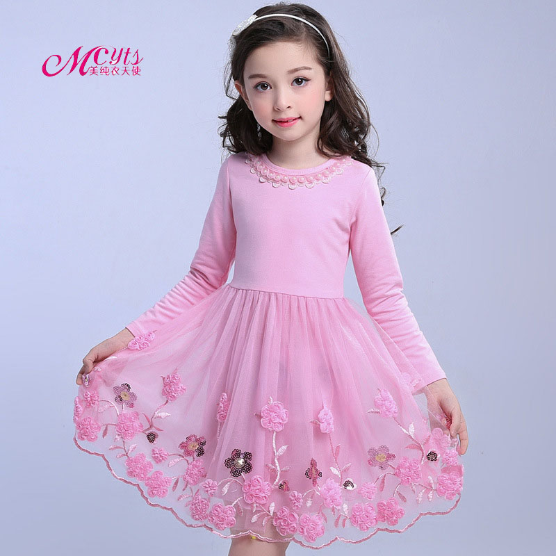Kids Girls Dress 2018 New Spring Autumn Children Party Wedding Princess Lace Clothes Ball Gown Girl Dresses 4 6 8 10 12 13 Years erapinky girl dress kids girls backless dress bow lace ball gown party dresses easter dress for girls 8year old child clothes