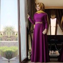 2016 Hijab Dubai Moroccan Kaftan Muslim Long Sleeve Vestido De Festa Evening Gowns Dresses