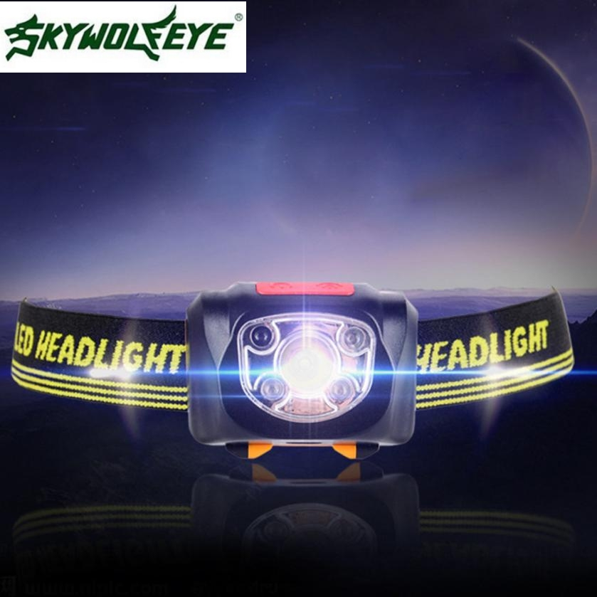 MA 6 Shining Hot Selling Fast Shipping USB Rechargeable Strong Light LED Waterproof Sensor Headlights