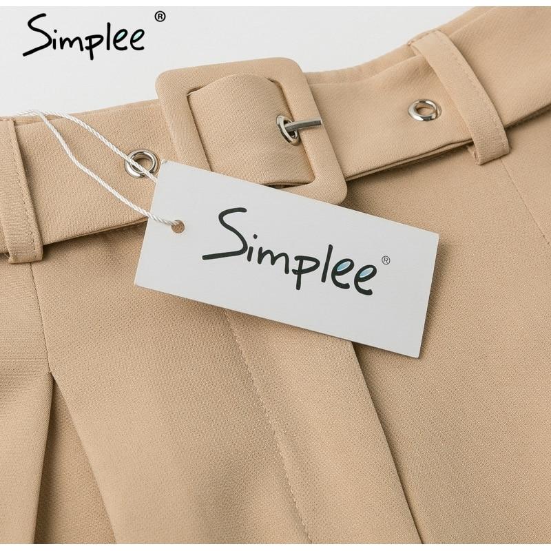 Simplee Elegant two-pieces women short suit Casual streetwear suits female blazer sets Chic 19 office ladies women blazer suit 21