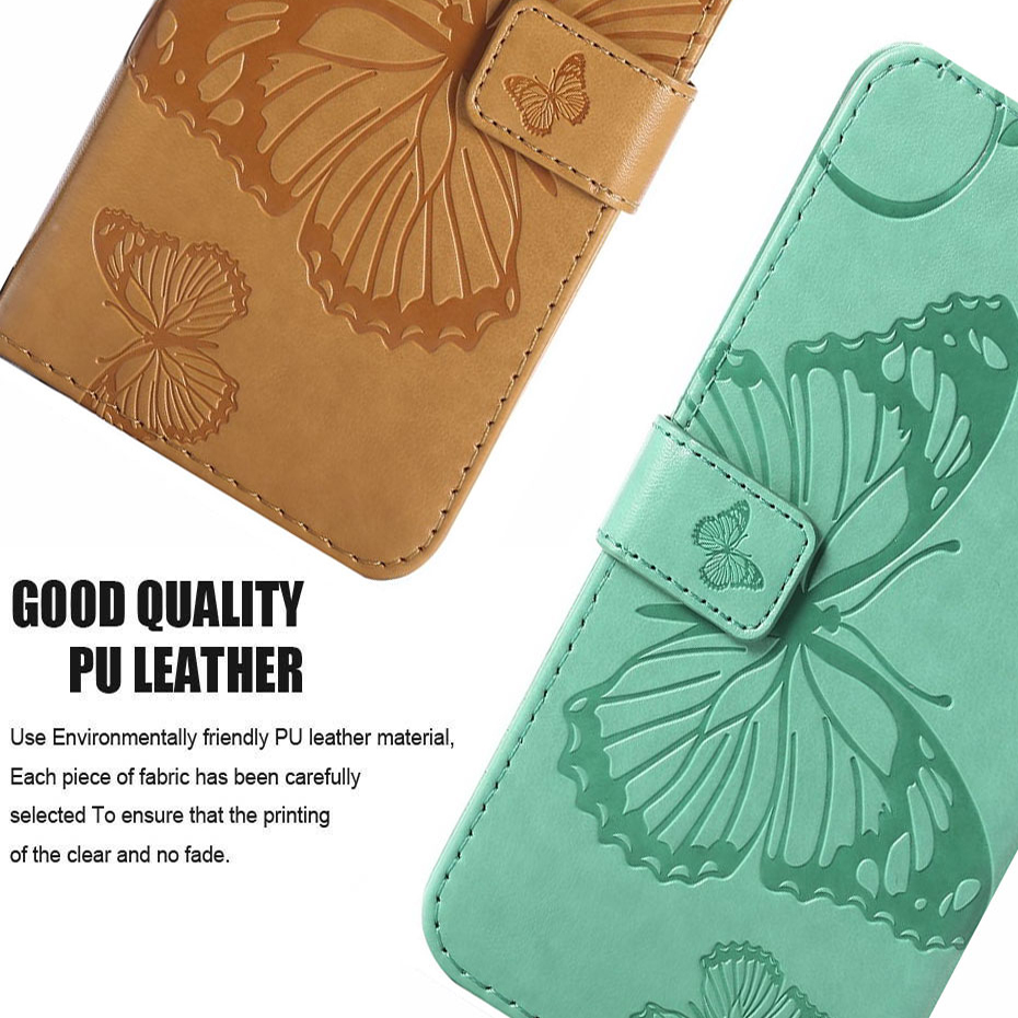 3D Flip Leather Wallet Stand Phone Case For iPhone X 8 7 6 6S Plus 5S SE 5 3D Printed Butterfly Magnetic Phone Cover w Card Slot (3)