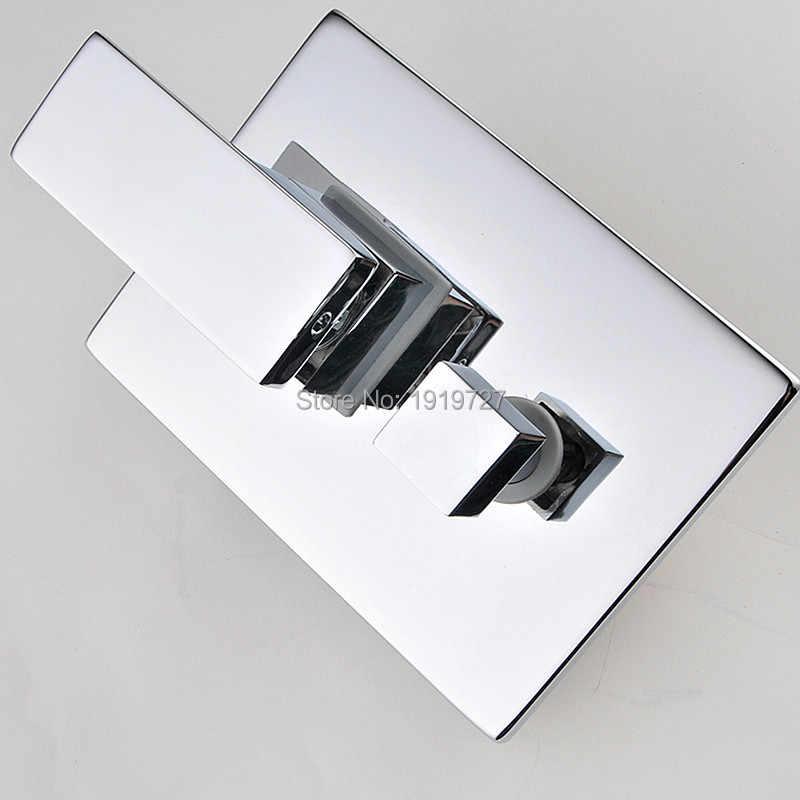 10 بوصة رأس الدش الفاخرة الحائط مربع نمط النحاس شلال الدش مجموعة المصنع مباشرة جديد الأمطار الحمام دش مجموعة