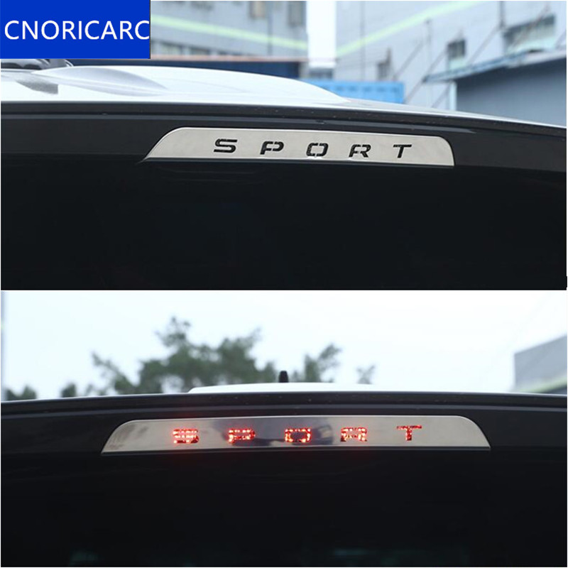 CNORICARC Car Tail Brake Lamp Sequins Decoration Decal for Land Rover Range Rover Sport 2014 17 Stainless steel Auto accessories