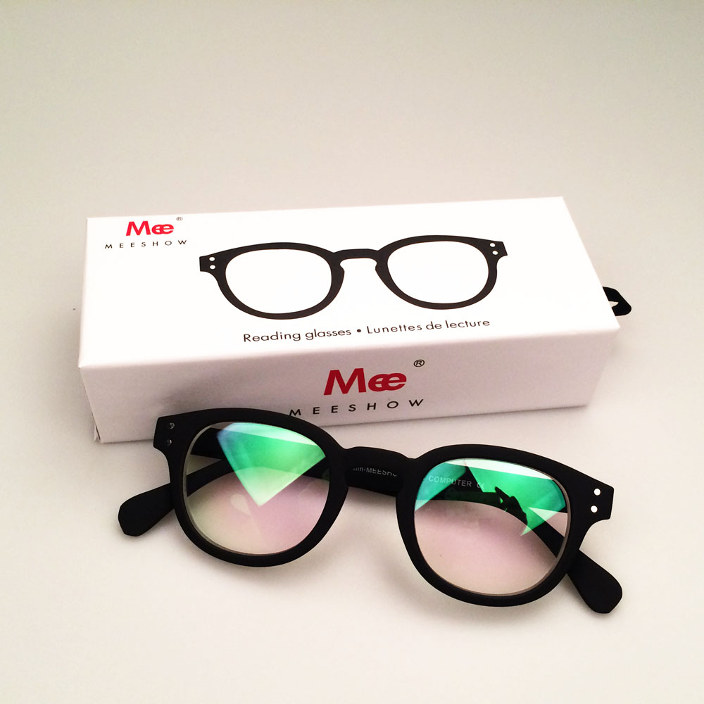 9dae09c7051 MEESHOW stylish Men women eyeglasses computer lens SCREEN protective BLUE  block anti blue ray gift case included 1513-in Eyewear Frames from Apparel  ...