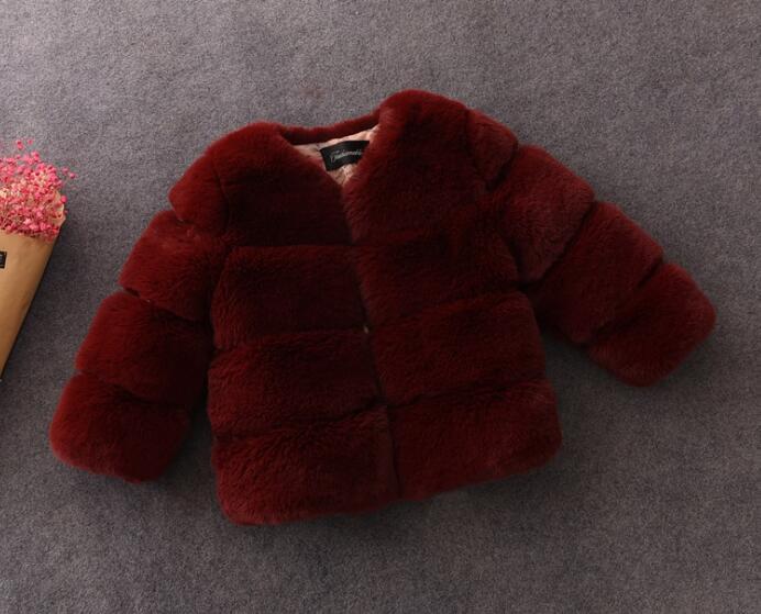 Bébé Enfant En Bas Âge En Fausse Fourrure Léopard Manteau avec ceinture Filles WinterWarm Veste Snowsuit vêtements d'extérieur pour enfants vêtements d'hiver Vêtements