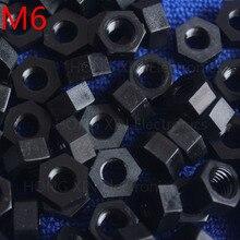 M6 1 шт. черный нейлон гайка 6 мм пластиковые гайки Удовлетворения RoSH стандартам Гексагональной ПК Электронные аксессуары Инструменты и т. д. высокого качества