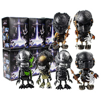 6pcs/lot Aliens VS Predaor Figures AVP Predator Aliens Queen Mini Cosbaby Model Toys for Children