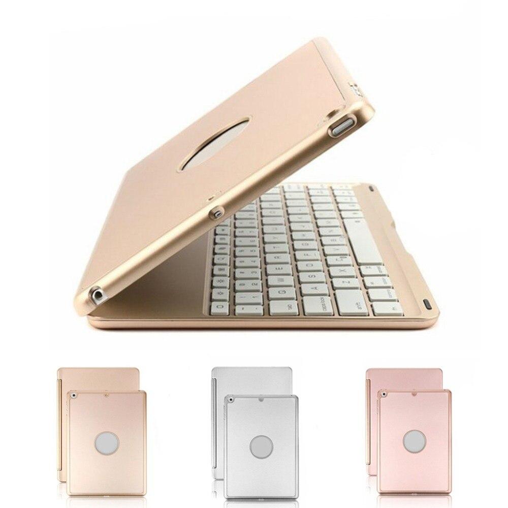Toetsenbord Case Voor Ipad 9.7 Inch 2018/2017, Ipad Air Hard Shell Case Met 7 Kleuren Back-lit Draadloze Bluetooth Toetsenbord Cover Fo Goed Verkopen Over De Hele Wereld