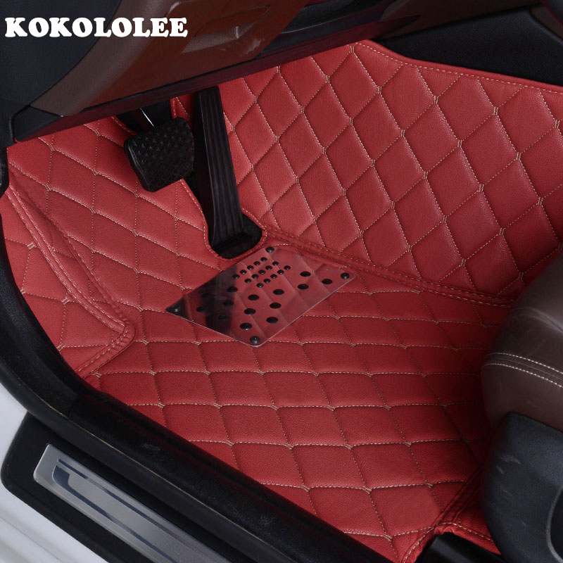 KOKOLOLEE Custom car floor mats for Mitsubishi Pajero ASX Lancer SPORT EX Zinger FORTIS Outlander Grandis Galant car styling door lock decoration protection cover for mitsubishi lancer wind wing god dean galant new strength dazzle pajero outlander
