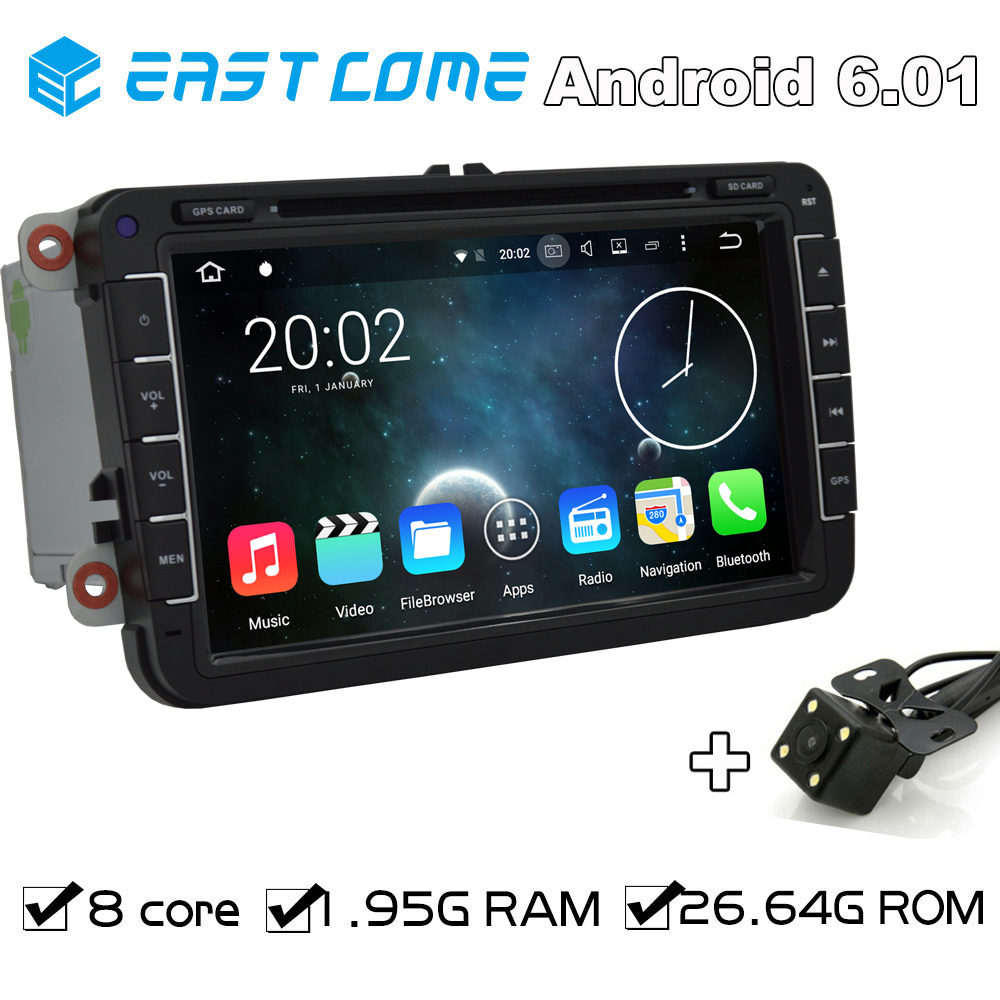 Octa Core Android 6.0 Car DVD For Volkswagen <font><b>VW</b></font> Tiguan <font><b>Touran</b></font> Caddy Amarok Golf EOS Beetle Magotan Bora With Backup Camera <font><b>Radio</b></font> image