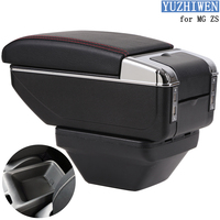 For MG ZS Armrest Box ZS Universal Car Central Armrest Lifting type Storage Box cup holder ashtray modification accessories