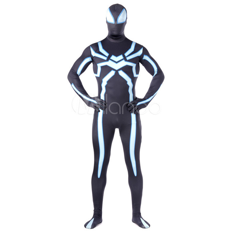 High Quality Lycra Spandex Zentai Men's Halloween Spiderman Costumes Adult Suit Cosplay Male Superhero Costume Zentai Bodysuit